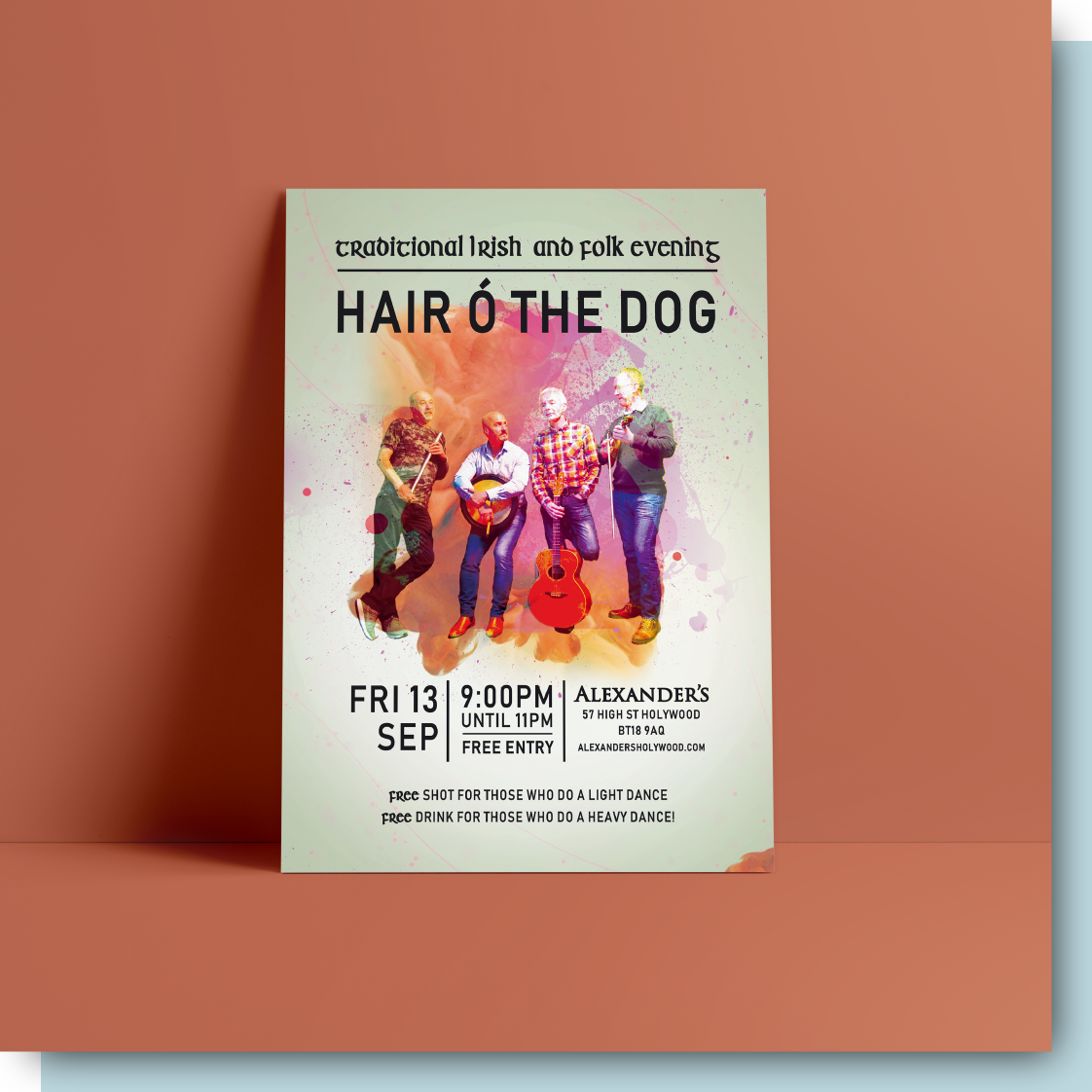 Hair O The Dog Print Design
